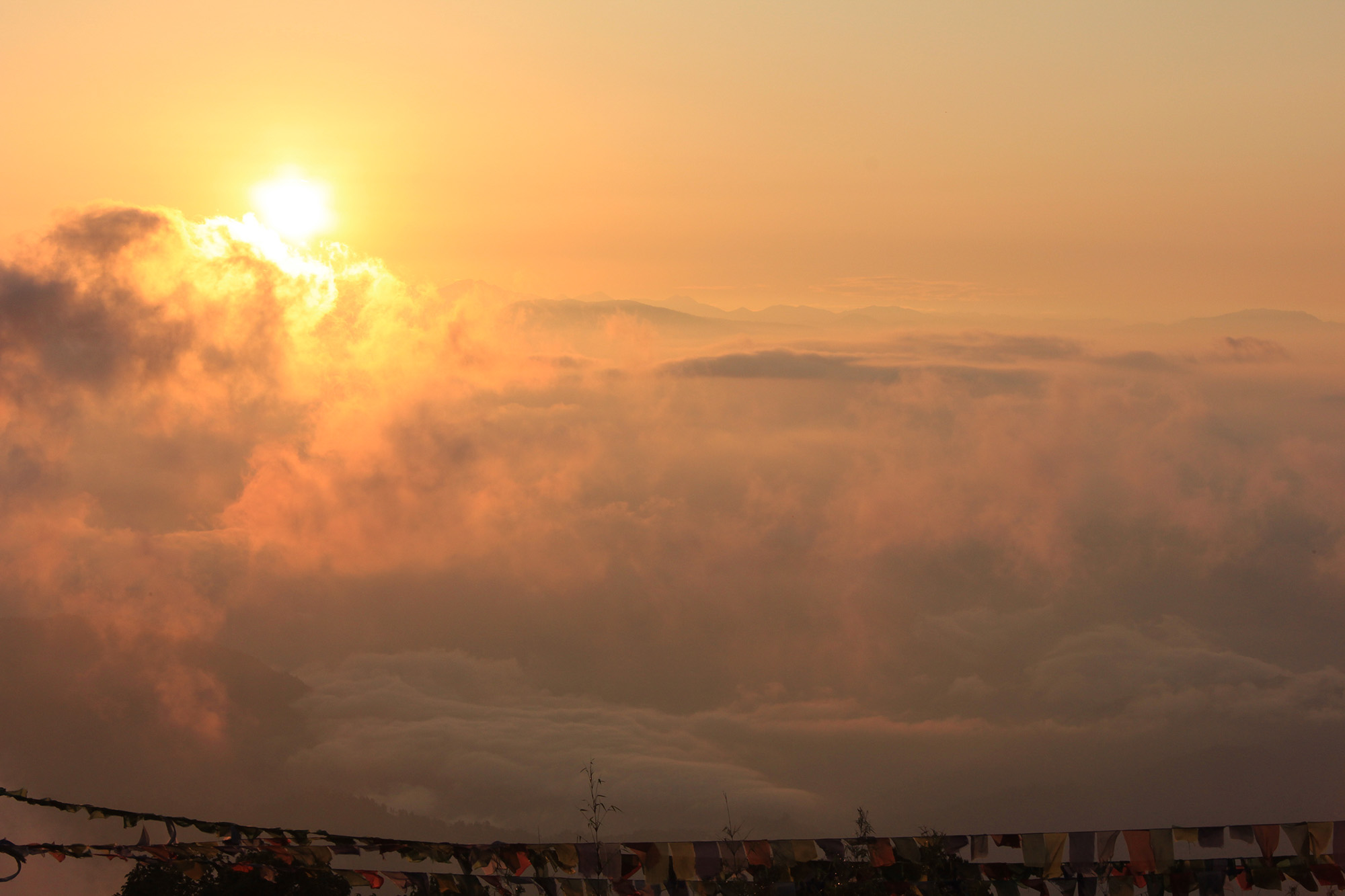 this eye soothing sunrise photo taken from tiger hill.