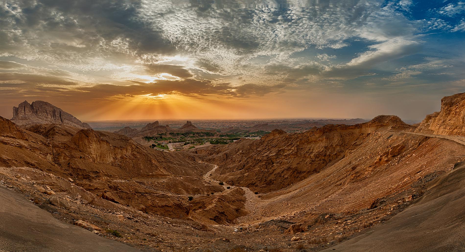 Beautiful Mountain range of Al Ain, The Jabel Hafeet.