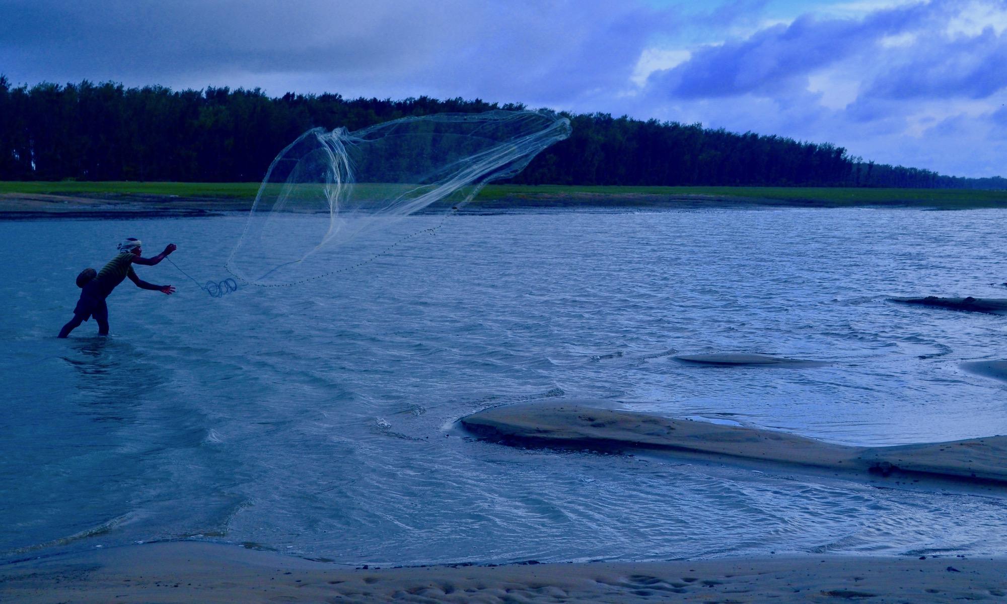 During a monsoon season at Talsadi sea beach of Odisha, I have taken this atmospheric image.