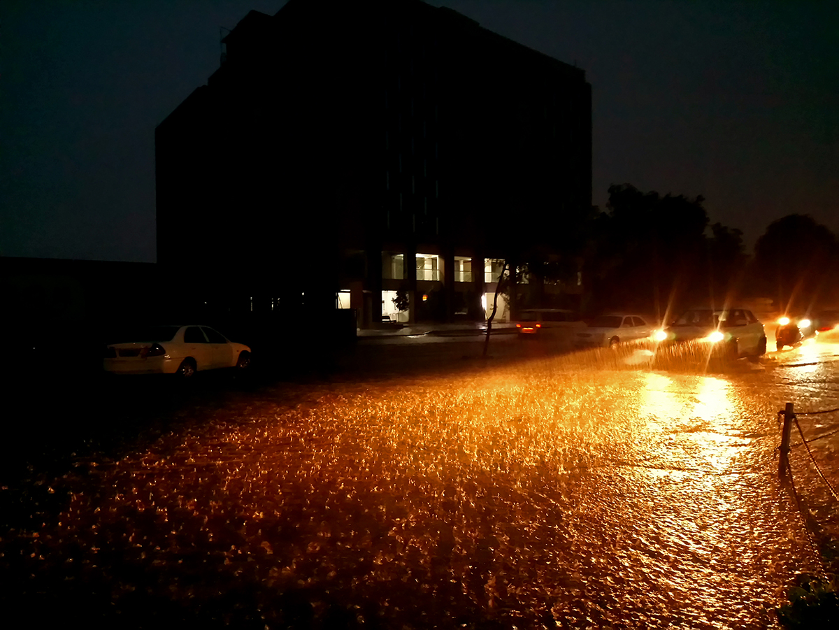 I took this picture during heavy raining and i went outside for take some items in ahmedabad