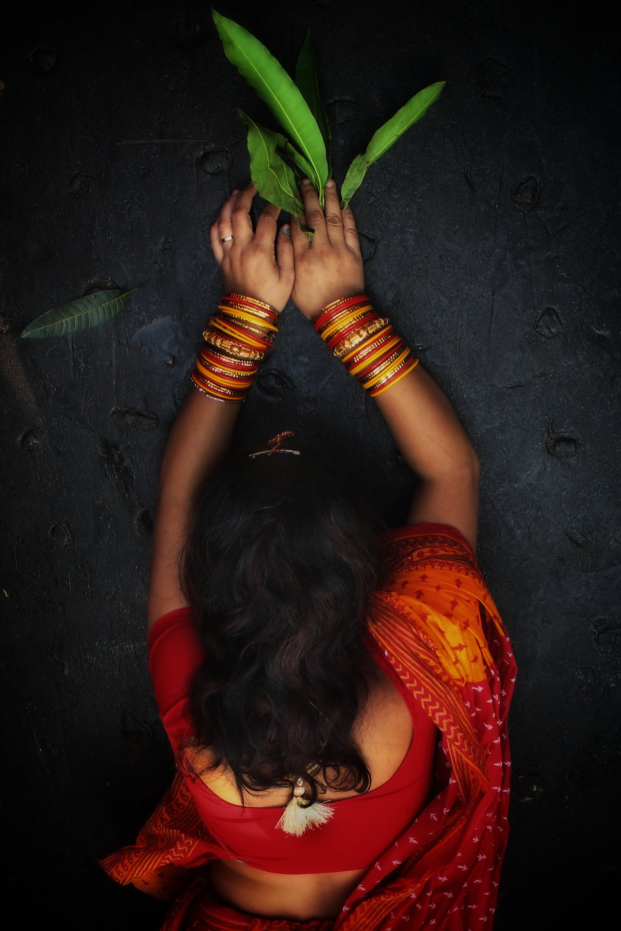 Woman dedication in the festival of Chath.