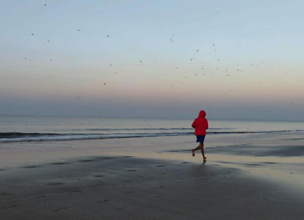 Early Morning run on the beach