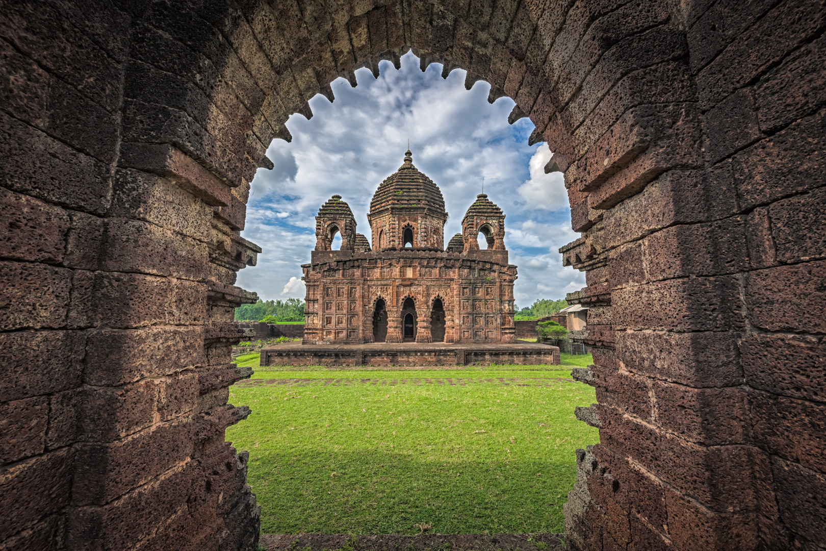 Krishna (Gokulchand) Temple at Joypur, Bankura, West Bengal India is a rare stone-built temple of Bengal where mostly terracotta temples are seen.