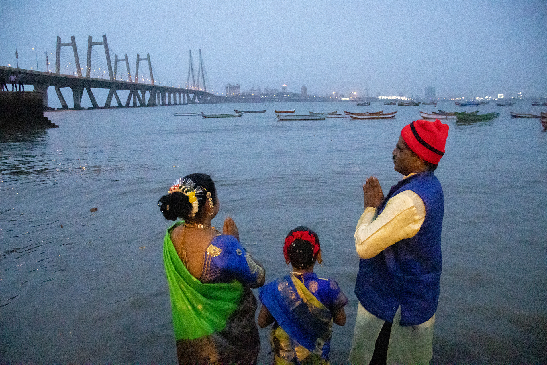 Once in every year, the fishermen community in Maharashtra performs puja at sea for lord Varuna, the god of the ocean and waters. Devotees offer offerings such as rice, flowers and coconuts to the god and ask for calm water and avoidance from water calamities. The festival is called Narali Poornima.