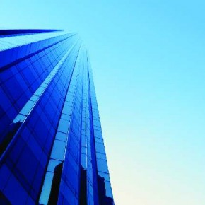 A low angle shot of a building effectively makes the building seem as if it is receding into the heavens. Photograph/Simona Dumitru