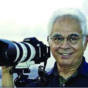 Kunj Trivedi with the camera. Photograph/Sharukh Mehta.