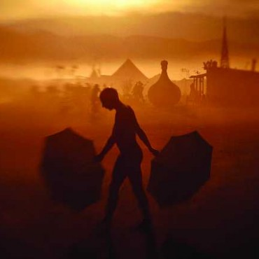 Taken with a LensBaby in Nevada, USA, this is a photograph of the alternative arts fair known as the Burning Man. The fair has become a showcase for obscure, outrageous and odd art. Photograph/Benjamin Krain