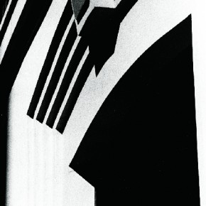From the 1980 series 'Black', the photograph portrays Ralph's symbolic use of high contrast, structure and architectural elements. Photograph/ Ralph Gibson