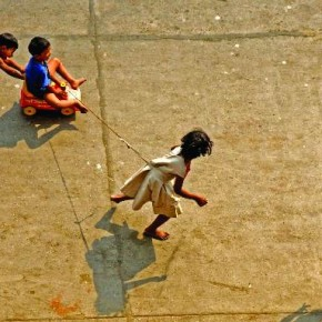 Kids can make for really interesting subjects especially, when they are playing. Photograph/P Sreesailam