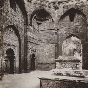 Tomb of Iltutmish, Interior View, Qutb Complex, Mehrauli, Delhi, c.1919–20. Photograph/John Marshall Adams.