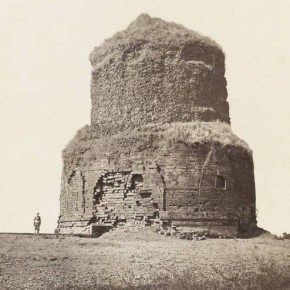Dhamek Stupa, Sarnath, 1859-60. Photograph/John Marshall Adams.