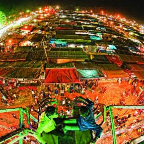 Shot from atop a Ferris wheel, this unusual vantage point makes for a stunning wide angle shot. Photograph/Anirban Brahma