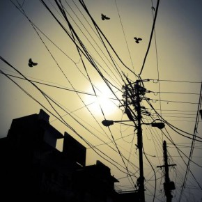 "Title: Wired ""I had raised my head towards the sky and noticed these wires. I felt that this clearly described the pattern of human life in a metro."" Camera: Sony Cyber-shot DSC-W220 ISO: 125 Aperture: f/7.1 Shutterspeed: 1/1600sec Photograph/Saurabh Bhatia, New Delhi"