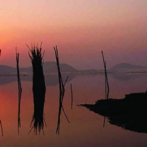 The use of a refl ection has enhanced this sunset image by creating an abstract, mirrored feel. Photograph/Somnath Dey Roy