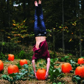 This picture required a lot of manipulation. I had only one pumpkin to work with. Sometimes I worry that my family might think I am crazy when they see me doing handstands on pumpkins in the garden. Photograph/Alex Stoddard