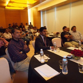 "Jaikumar Pillai and the Canon India team during the ""Eye on the Future"" event."