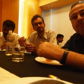 The photographers and the Canon India team bond over a special luncheon prepared for them.