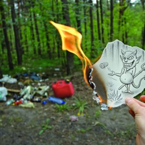 The moment I found this dump, I drew a sketch to convey what we are doing to our environment. I almost burnt my own fingers in the process! Photograph/Ben Heine