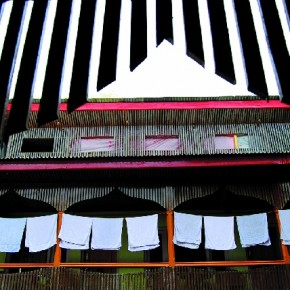 I saw these cotton towels drying in a hotel in Kargil. The row of towels, the repeating shapes they created, and the structure of the hotel attracted me. Photograph/Subrata Bal, Banker, Rourkela, Orissa
