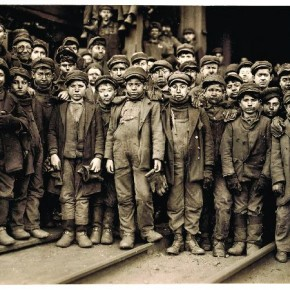 This image became the most important proof in Hine's war against child labour. It became instrumental in making stricter child labour laws. Photograph/Lewis Hine