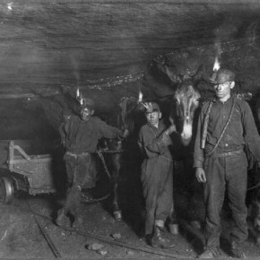 While shooting in coal mines, he would set up his camera and then ask a child worker to enter the frame so that it looked natural. Photograph/Lewis Hine