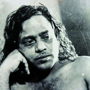 This self-portrait aptly paints Ghosh as an unconventional man for his times. Photograph/ Manoranjan Ghosh