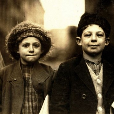 If Hine could not confirm the age of his subjects, he would count the buttons on their jackets for an estimate. Photograph/Lewis Hine