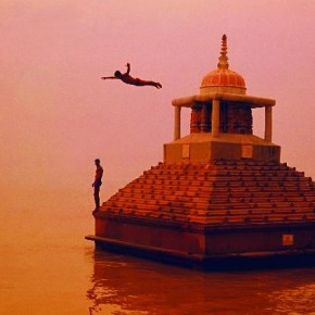 Shot at the Ganges ghats, he used an orange filter to enhance this previsualised moment. Photograph/ S Ganapathi Rao