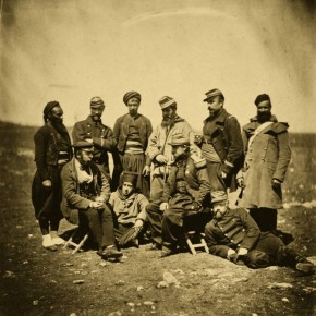 Fenton's war photography was unconventional and was not bound by hard and fast rules. The languid nature of this photo is completely unlike today's rigid battalion images. Photograph/ Roger Fenton