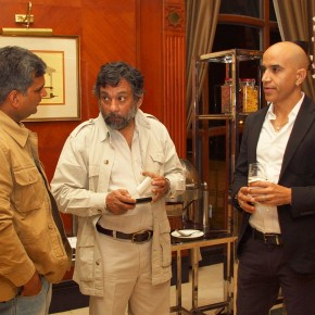 (From Left to Right) Harish Tygai, Pablo Bartholomew and New Delhi based photographer Anay Mann