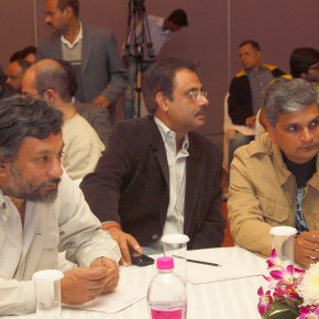 Pablo Bartholomew, Amit Mehra and Harish Tyagi (from left to right) at the launch of the Hindi edition of Better Photography