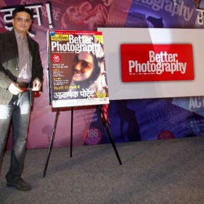 Sandeep Khosla after the unveiling of Better Photography Hindi