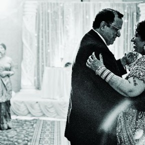 The bride and her father are dancing with the mother standing in the background and singing a song that she specially wrote. Photograph/Seshu