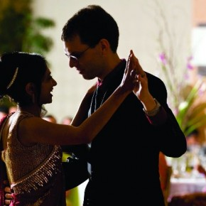 This image was created during the couple's first dance as husband and wife. Noticing their body language, facial expressions and great lighting in the scene, Seshu framed this moment. Photograph/Seshu