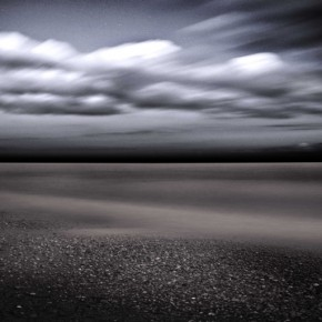 The blurred movement of the clouds and water has divided the image into three distinct parts. Photograph/John Ryan