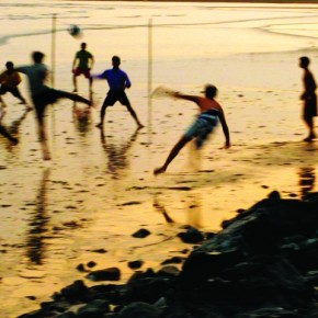 This image was shot in fading light at Versova beach, Mumbai. A shutter speed of 1/25sec ensured that I managed to freeze the footballers in mid-air and obtain a simultaneous blur. You need to anticipate the movements of the subject. Photograph/Raj Lalwani