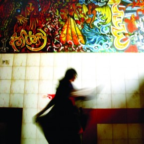 Shot at the Bandra reclamation underpass. This was another image where I divided the frame into two halves – still and moving, the mural art and the girl frolicking under the graffiti. A shutter speed of 1/6sec was used, and the dramatic lighting added character to the photograph. Photograph/Raj Lalwani
