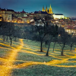 The landscape in this image was painstakingly light painted in an exposure spanning 5min. Photograph/Jan Pohribny