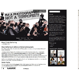 A campaign called I'm a Photographer, Not a Terrorist, has been started by a group of concerned individuals in the UK to inform photographers about their rights and agitate against numerous photographic restrictions.