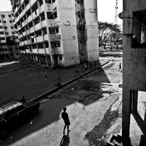Not only is the rehabilitation area isolated, but is also a place that threatens to become a concrete slum in itself. Photograph/ Akshay Mahajan