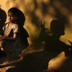 The unusual shadow play in this image is what makes it so dramatic, yet evocative. Photograph/Kaushik Majumder