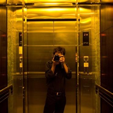 Next time you're bored in an elevator, take self-portraits! Photograph/Raj Lalwani