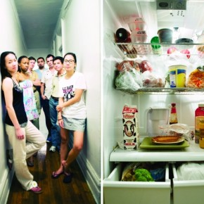 When I started the project, I was more focused on making a nice portrait and payed less attention to the fridge. Photograph/Stephanie De Rouge