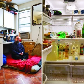 I wondered how someone could have so much liquid and no food at all in a fridge. Photograph/Stephanie De Rouge