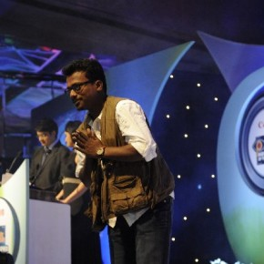 A humble S L Shanthkumar after being awarded the title of Photographer of the Year 2011
