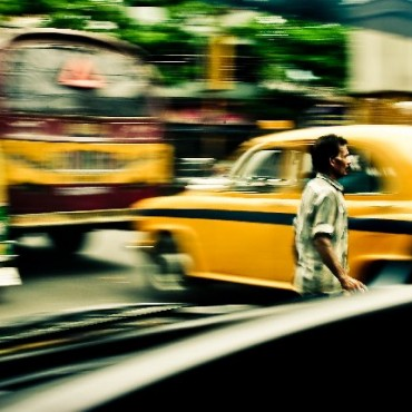 """I made this image from inside a car, on the busy streets of Kolkata. To me, the image not only conveys the decisions that we have to make but also portrays the chaos that we encounter on a daily basis."" Photograph/Varun Raj"