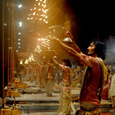 This image of the Ganga Aarti won Money Sharma the Nat Geo Moment Awards III. Photograph/ Money Sharma