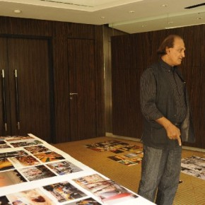 Raghu Rai at the judging of the Canon-Better Photography POY 2011 Final Face-off