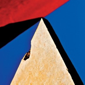 The Prism: This was one of the most difficult shots to frame, because I had to align the base of the triangle to the corners and at the same time make sure the shadow and the background red line converged. Photograph/Sanjay Nanda