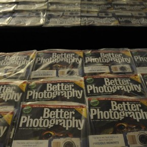 The February issue of Better Photography on display at the venue